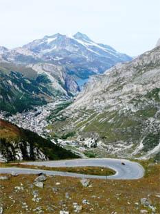 Afdaling naar Val d'Isere