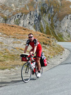 Bijna boven op de Col d'Iseran